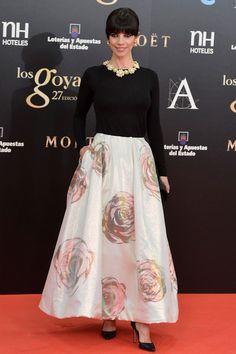 Maribel Verdú. Raf Simons para Dior. Goyas 2013