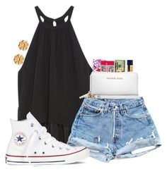 """""""day 3-lydia's contest!"""" by madiweeksss ❤ liked on Polyvore featuring OTTE, Converse, Burt's Bees, MICHAEL Michael Kors, Tory Burch and lydhcontestsummer"""