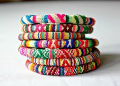 Vintage Textile Andean Bracelets by AndeanSupplies on Etsy