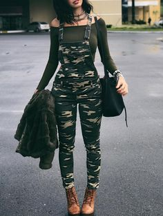 Shop Stylish Camouflage Pocket Front Overalls – Discover sexy women fashion at. Shop Stylish Camouflage Pocket Front Overalls – Discover sexy women fashion at IVRose Teenage Outfits, Teen Fashion Outfits, Outfits For Teens, Girl Outfits, Summer Outfits, Womens Fashion, Fashion Ideas, Fashion Trends, Cute Casual Outfits