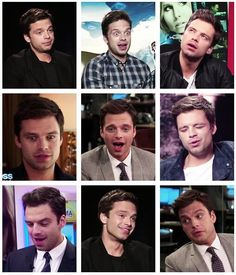 Sebastian Stan facial appreciation post---idk which to laugh at most....