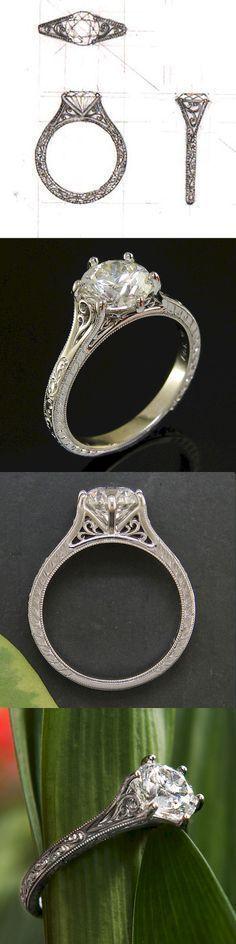 Cushion cut vintage engagement ring (75)