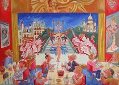 Paris sera toujours Paris - Huile sur toile - 50 X 70 cm. Claude, Serum, Paris, Painting, Oil On Canvas, Board, Montmartre Paris, Painting Art, Paris France