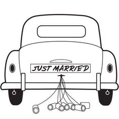Wedding Cards, Diy Wedding, Wedding Gifts, Wedding Things, Just Married Auto, Sunflower Wedding Decorations, Renault Talisman, Bear Silhouette, Custom Rubber Stamps
