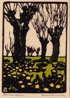 Arie Zonneveld (1905-1941) Dutch linoleum and woodblock printmaker. The Linosaurus: February 2011
