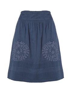 Cute embroidered skirt - Blue