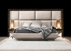 Capital Decor // Kimera Bed Astonishing luxury contemporary bed entirely made in Italy. Hardwood frame and padded headboard. Also available in velvet, silk finish or leather. designpass.com