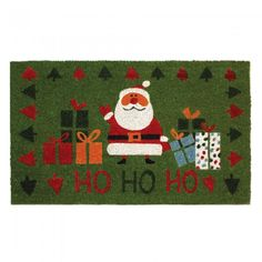 Santa Welcome Mat $17.50  #homedecor #holdiays #christmasdecor  What a cute door mat for your Christmas decorations.