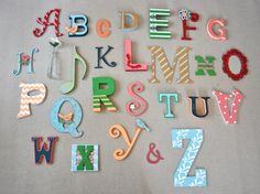 Beautiful Custom Letters Girlu0027s Alphabet Wall Art Various By HeyColeDecor