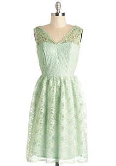 Layer on the Love Dress in Mint. Todays reception abounds with glee and gratitude, and you heighten the afternoons loveliness in this darling pale mint dress! #mint #prom #wedding #bridesmaid #modcloth