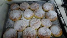 Ντονατς λουκουμαδες φουρνου Hamburger, Bakery, Muffin, Favorite Recipes, Bread, Breakfast, Ethnic Recipes, Sweet, Food