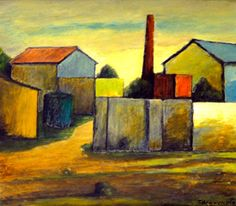 Artist: Juan Carlos Boveri Title: la fábrica Medium: Oil Paint Boveri uses mostly a square shape with warm colors to represent this farm. I choose this picture because of the warm colors and warm feel