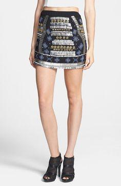 Raga Beaded Miniskirt available at #Nordstrom