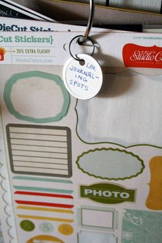 Labeling for hanging items on wire shelving....from Balzer Designs blog