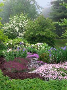 A beautiful spring garden.