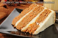 Carrot Cake with Cream Cheese Frosting - HowToInstructions.Us