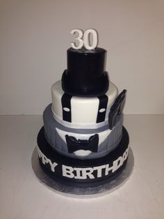 30 Birthday Cake Top Hat Suspenders Sunglasses