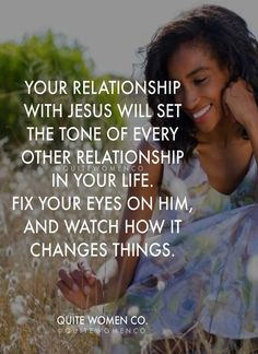 Focusing on my relationship with Jesus Christ...Amen❤️