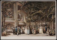"""Vaux-hall"", T. Rowlandson, ca. 1785; Lewis Walpole Library 785.06.28.01 lwlpr05786"