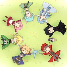 Sword Art Online Asuna, Lizbeth and Sinon