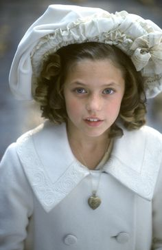 A LITTLE PRINCESS (1995)  Liesel Matthews.  A lovely version of a childhood classic.  Sara Crew, a wealthy child, is left penniless and orphaned at a girl's school when her father is purported killed in World War I.  Her optimism carries her thru adversity as her situation worsens.  This does have a happy ending (I'm a sucker for those).  Beautiful Edwardian costumes for children of that age.