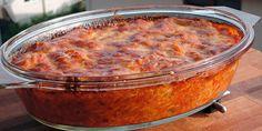 Blandingen af tomat, pasta, bacon og ost er helt perfekt