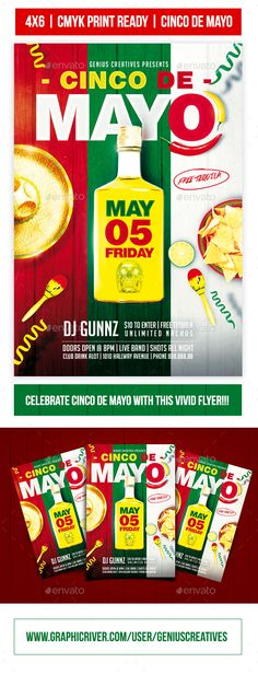 Cinco De Mayo Party Flyer Template PSD #download