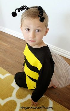 No Sew Bee Costume {tutorial}