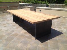 Tavolo giardino teak e ferro