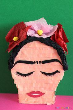 The cutest handmade mini piñata of Frida Kahlo | Live Colorful