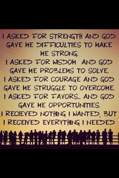 So true! Thank you Lord for the lessons and struggles and for helping me through.