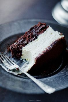 White chocolate mousse cake. Make using wacky chocolate cake and top with chocolate mousse.