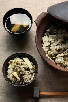 日本人のごはん/お弁当 Japanese bamboo shoot rice 筍ごはん