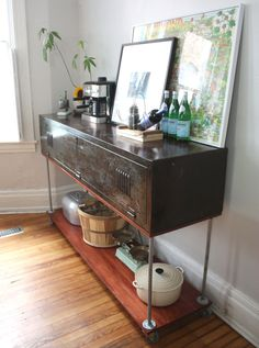 Console table from old locker