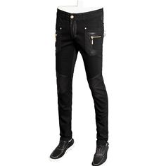 >> Click to Buy << top quality fashion men leather jacket slim fit skinny pu straight trousers 28-36 CYG98 #Affiliate