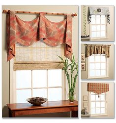 I love a pole swag, Tango.  Hannah can do these beautifully.  I'm thinking though, with the three bay windows close together, it might look really busy to have six panels hanging down in addition to the swags.  Maybe a shade would be better with swags, a simpler valance with panels???