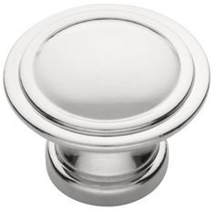 Polished Chrome Ridge Knob - 30mm - $2.09