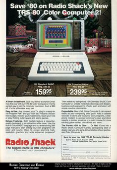 Responsible for my life in computing  - TRS-80 Color Computer 2 Christmas Ad