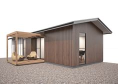 FormHomes Granny Flat range. This Slim design is designed to physically separate the yard space to create privacy. Design: Richard Jeffrey