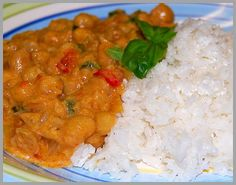 Thai Curried Chickpeas with Coconut Rice...YUMMY!!! :)