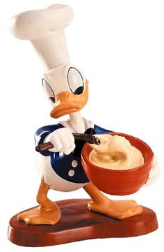WDCC Disney Classics Chef Donald Donald Duck Somethings Cooking #WDCCDisneyClassics #Art. (2001 Fall Premier Event Sculpture). Numbered Limited Edition 5,000. Closed Edition 10/01  Special Backstamp: A special backstamp commerates the 60th Anniversary of the film. Donald jauntily wears a chef's hat.