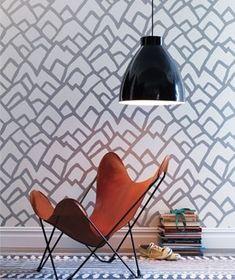 Image result for wallpaper blue orange wall covering