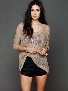 Free People Pointelle Pullover Sweater, $118.00