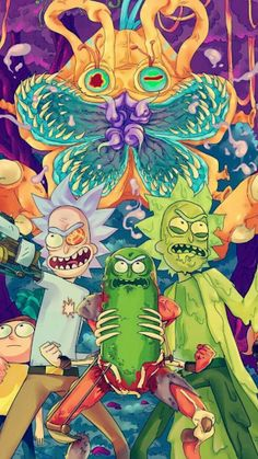 17 Trendy Wall Paper Iphone Trippy Rick And Morty Trippy Rick And Morty, Rick And Morty Drawing, Rick And Morty Tattoo, Rick I Morty, Graffiti Wallpaper, Cartoon Wallpaper, Iphone Wallpaper, Cartoon Shows, Cartoon Art