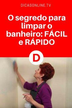 Limpeza do banheiro com vinagre | O segredo para limpar o banheiro: FÁCIL e RÁPIDO |