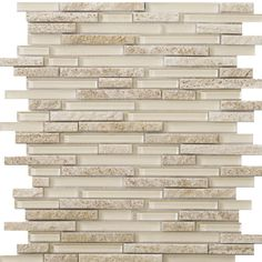 Found it at Wayfair - Lucente Random Sized Glass Mosaic Tile in Servolo Linear