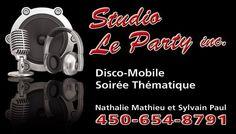 Studio Le Party DJ, disco mobile_Sylvain Paul & Nathalie Mathieu. Mariages & évènements.