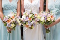 Beautiful bouquets for a spring wedding