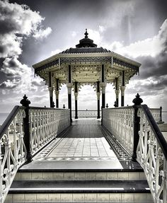 Brighton Bandstand, a beautiful piece of Victorian architecture on the seafront
