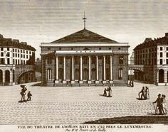 Near to the Hotel Salm was the L'Odeon Theater where Thomas Jefferson liked to attend opera.